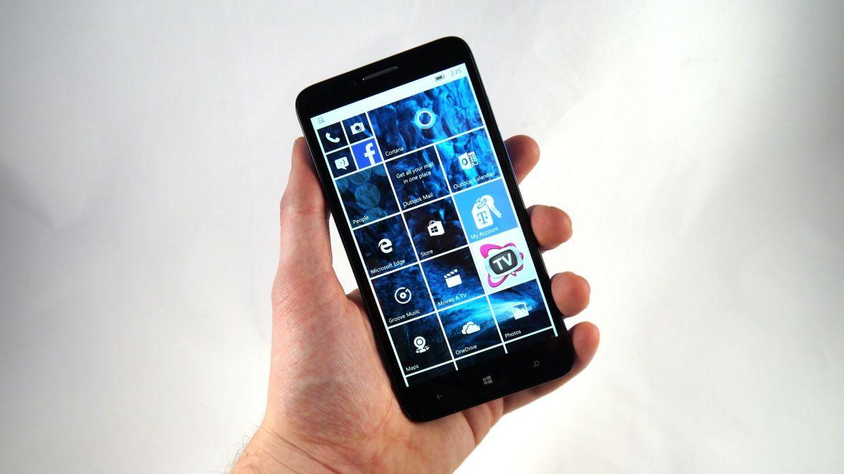 Alcatel Fierce XL with Windows 10 Mobile
