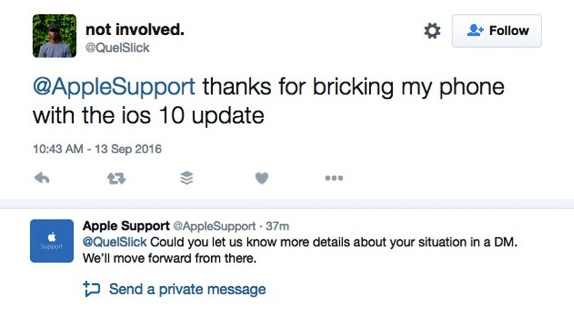 iOS 10 bricking