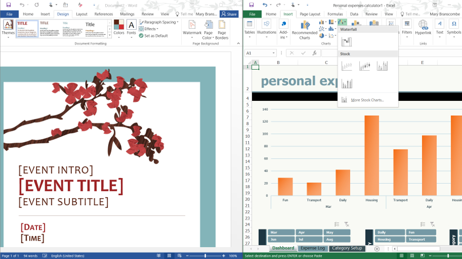 ms office 2016 features