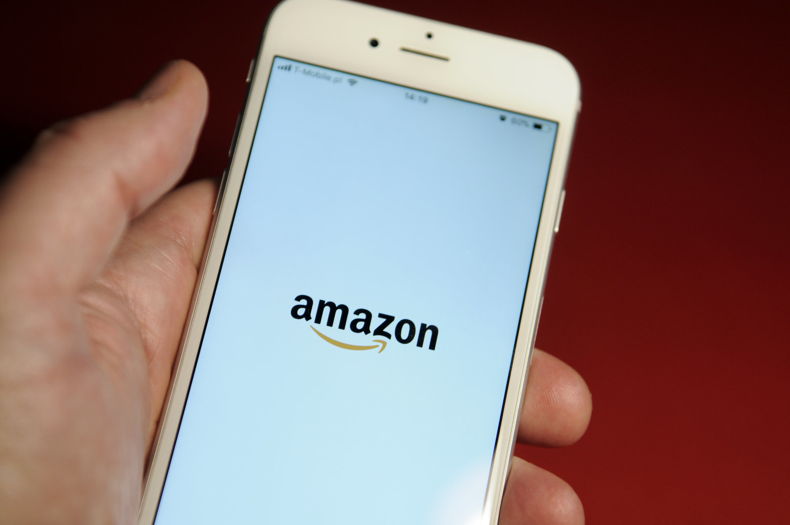 The Amazon application startup screen is seen on an iPhone on October 25, 2017. (Photo by Jaap Arriens/NurPhoto via Getty Images)