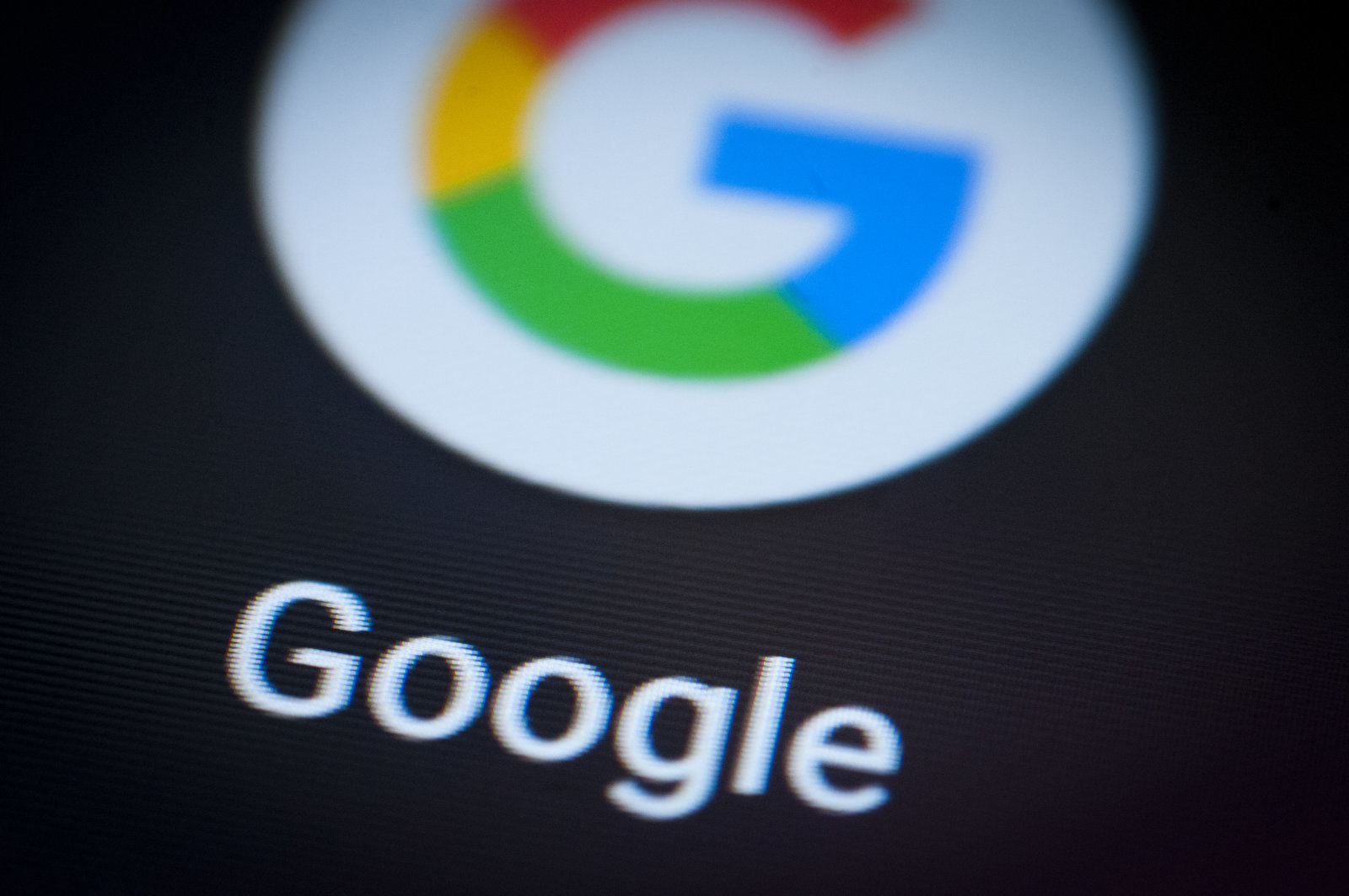 The Google search app is seen on an Android portable device on February 5, 2018. (Photo by Jaap Arriens/NurPhoto via Getty Images)