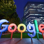 BEIJING, CHINA - AUGUST 07: The Google Inc. logo is illuminated in front of Google Beijing Office on August 7, 2018 in Beijing, China. According to China Daily, Google Inc. plans to offer cloud services in Mainland China, and it is in talks with several Chinese companies, such as Tencent Holdings Ltd and Inspur Group. (Photo by VCG via Getty Images)