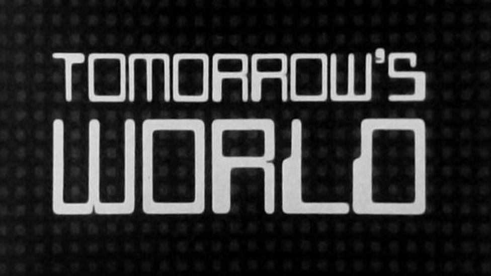 A promo shot/title screen from the original Tomorrow's World