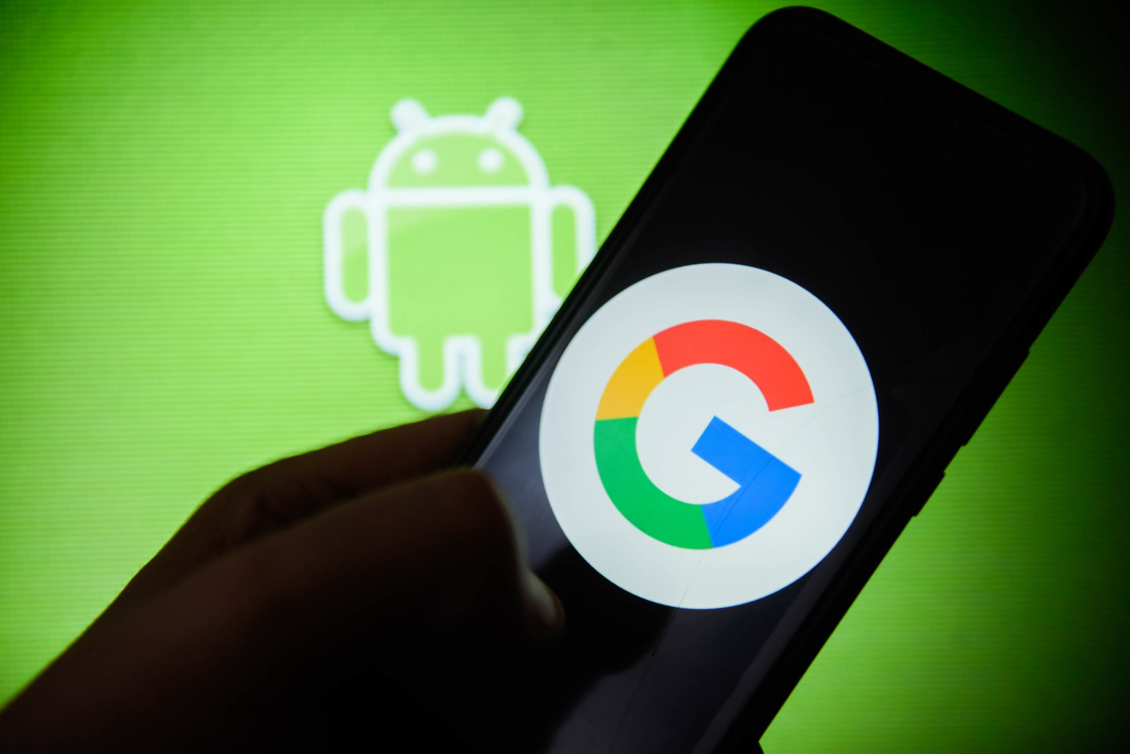 KRAKOW, POLAND - 2019/01/14: Google logo is seen on an android mobile phone. (Photo by Omar Marques/SOPA Images/LightRocket via Getty Images)