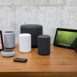 "SEATTLE, WA - SEPTEMBER 20: An assortment of newly launched devices, including, an ""Echo Input,"" ""Echo Show, ""Echo Plus,"" ""Echo Sub,"" ""Echo Auto"" and ""Firetv Recast"" are pictured at Amazon Headquarters, follownig a launch event, on September 20, 2018 in Seattle Washington. Amazon launched more than 70 Alexa-enable products during the event. (Photo by Stephen Brashear/Getty Images)"