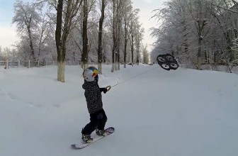 Watch this kid become the world's first droneboarder