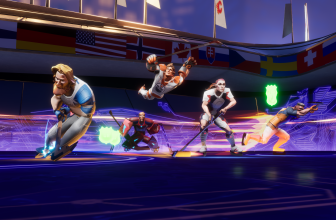 This is Ultimate Rivals, an Apple Arcade game that has Lebron James playing hockey