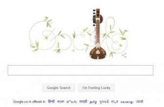 Google doodle today marks 96th birth anniversary of Sitar maestro Pandit Ravi Shankar