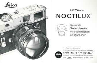 Leica's Noctilux-M 50mm F1.2 is an homage to one of its most iconic lenses