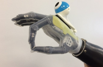 This prosthetic hand has a built-in eye for added accuracy