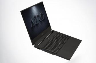 Gigabyte's Aero laptop uses AI to optimize gaming performance