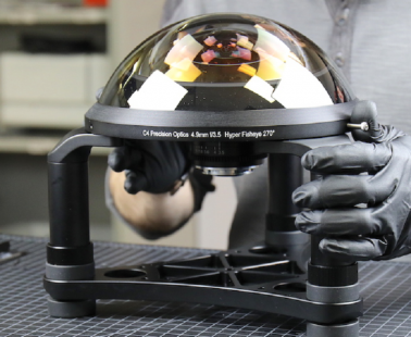 LensRentals constructs a C-4 Optics 4.9mm F3.5 Hyperfisheye Prototype lens