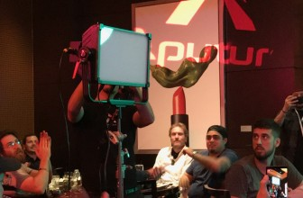 Aputure shows prototype RGB panel light with color picker device