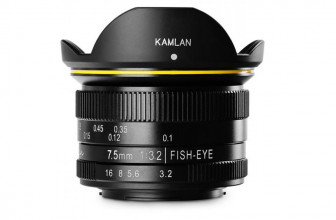 Kamlan announces new 7.5mm F3.2 fisheye lens for Micro Four Thirds systems