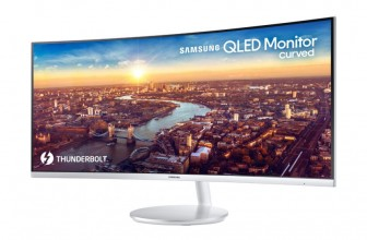Samsung's 34-inch monitor is the first curved panel with Thunderbolt 3