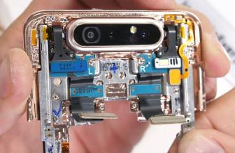 Samsung Galaxy A80 teardown reveals complex camera swivel mechanism