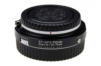Fotodiox's new Vizelex Cine ND Throttle Fusion adapter connects EF lenses to GFX cameras