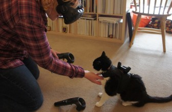 A pet-tracker is being developed so you can avoid stepping on them in VR and IRL