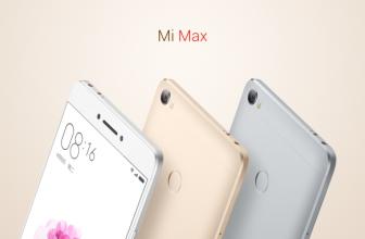 Xiaomi Launches the Mi Max: $230-$310, 6.4-inch, 4850 mAh, 7.5mm, Dual SIM